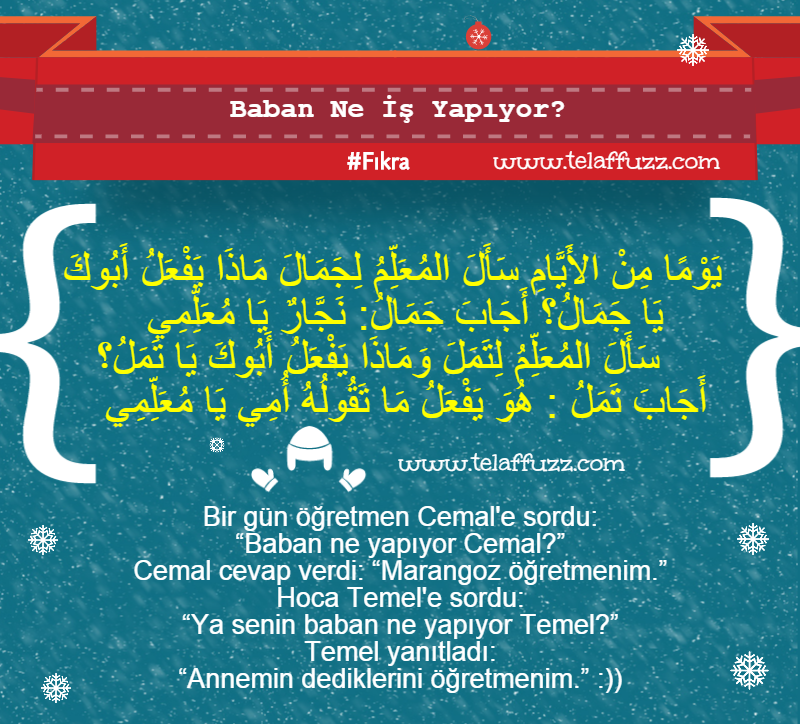 Arapça Komik Fıkralar Telaffuzz