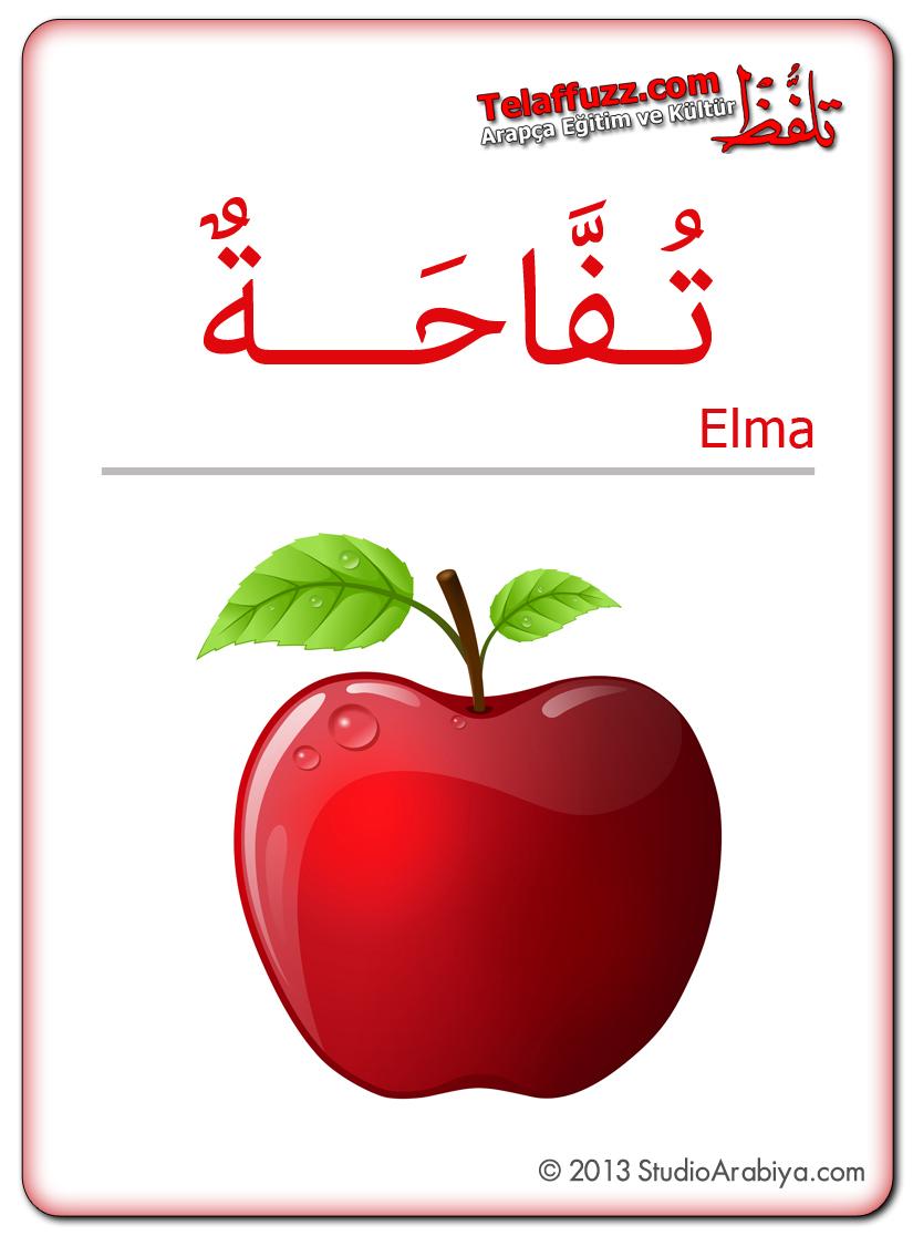 Flashcards-Fruits-Apple