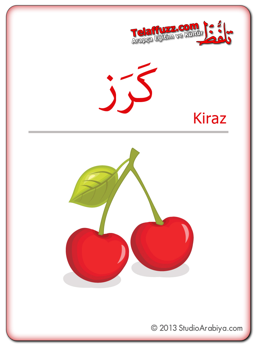 Flashcards-Fruits-Cherry