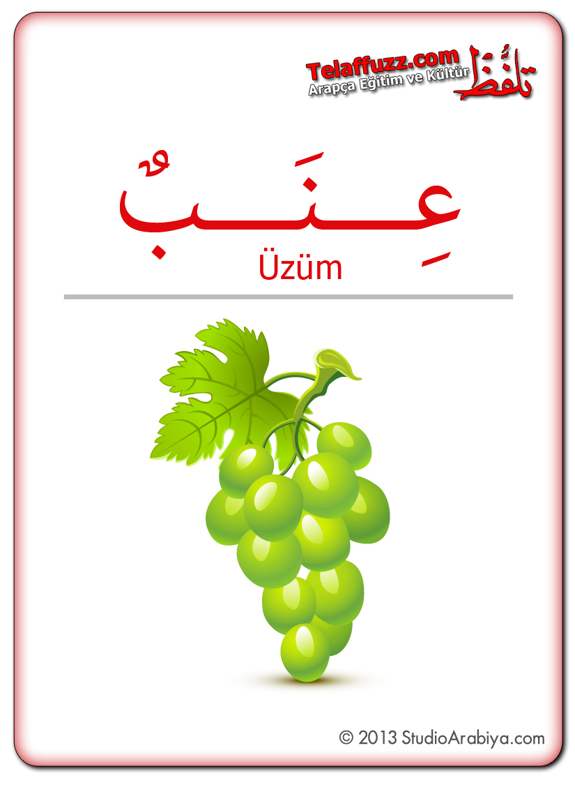 Flashcards-Fruits-Grapes