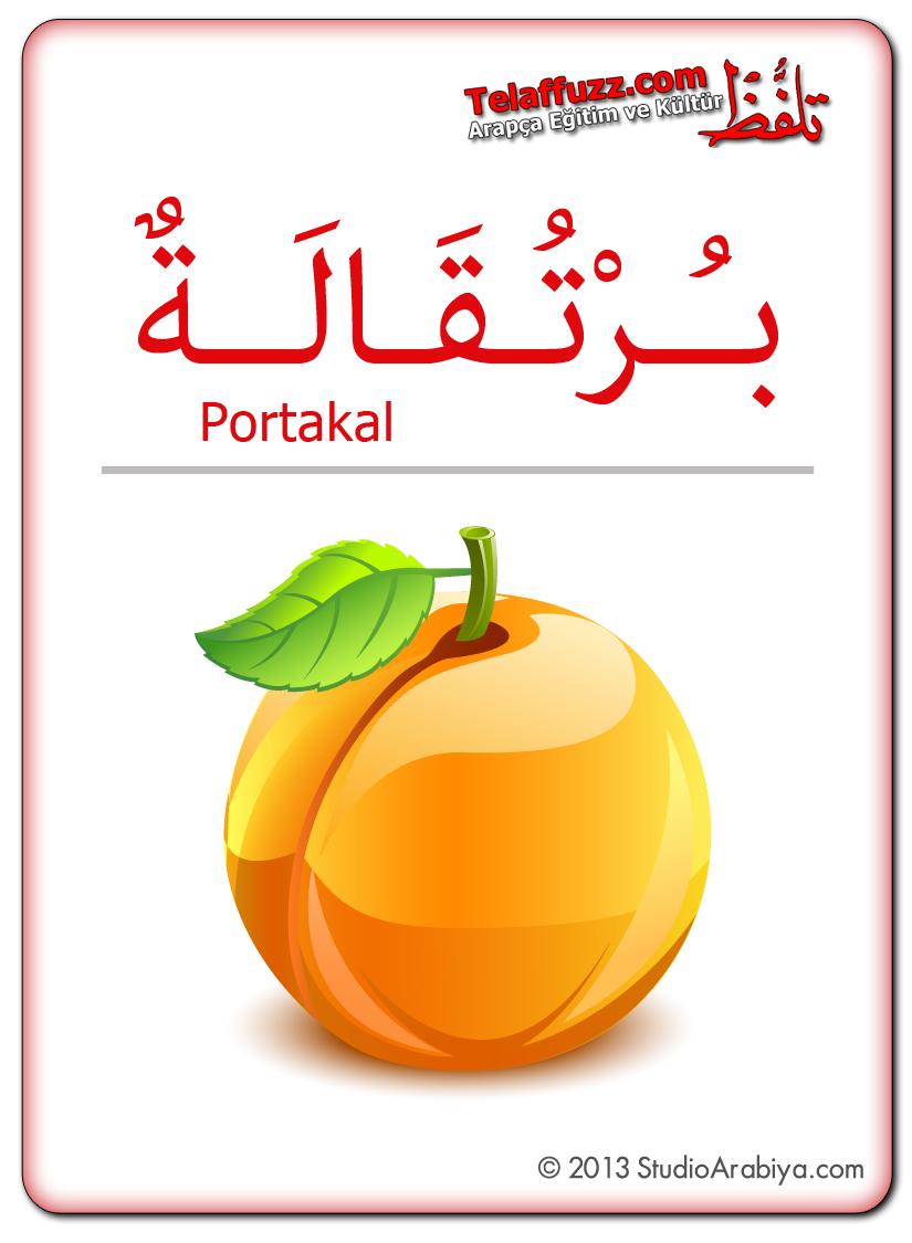 Flashcards-Fruits-Orange