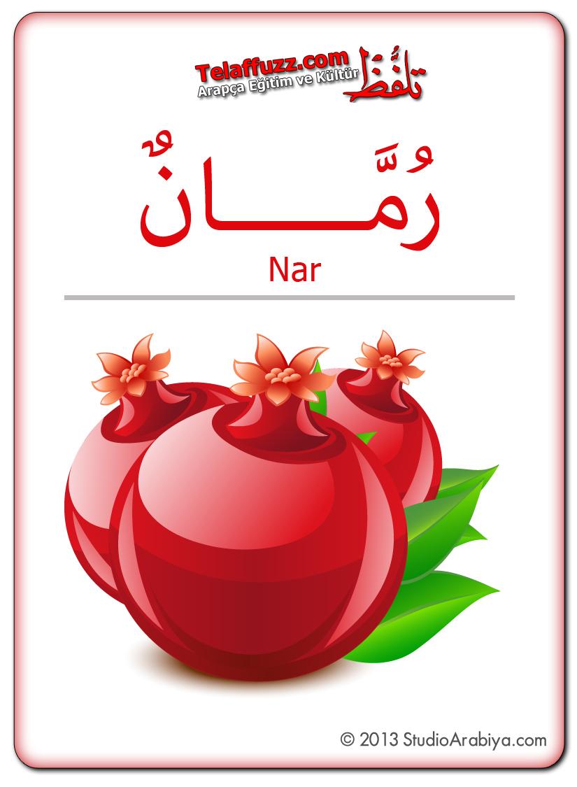 Flashcards-Fruits-Pomegranate
