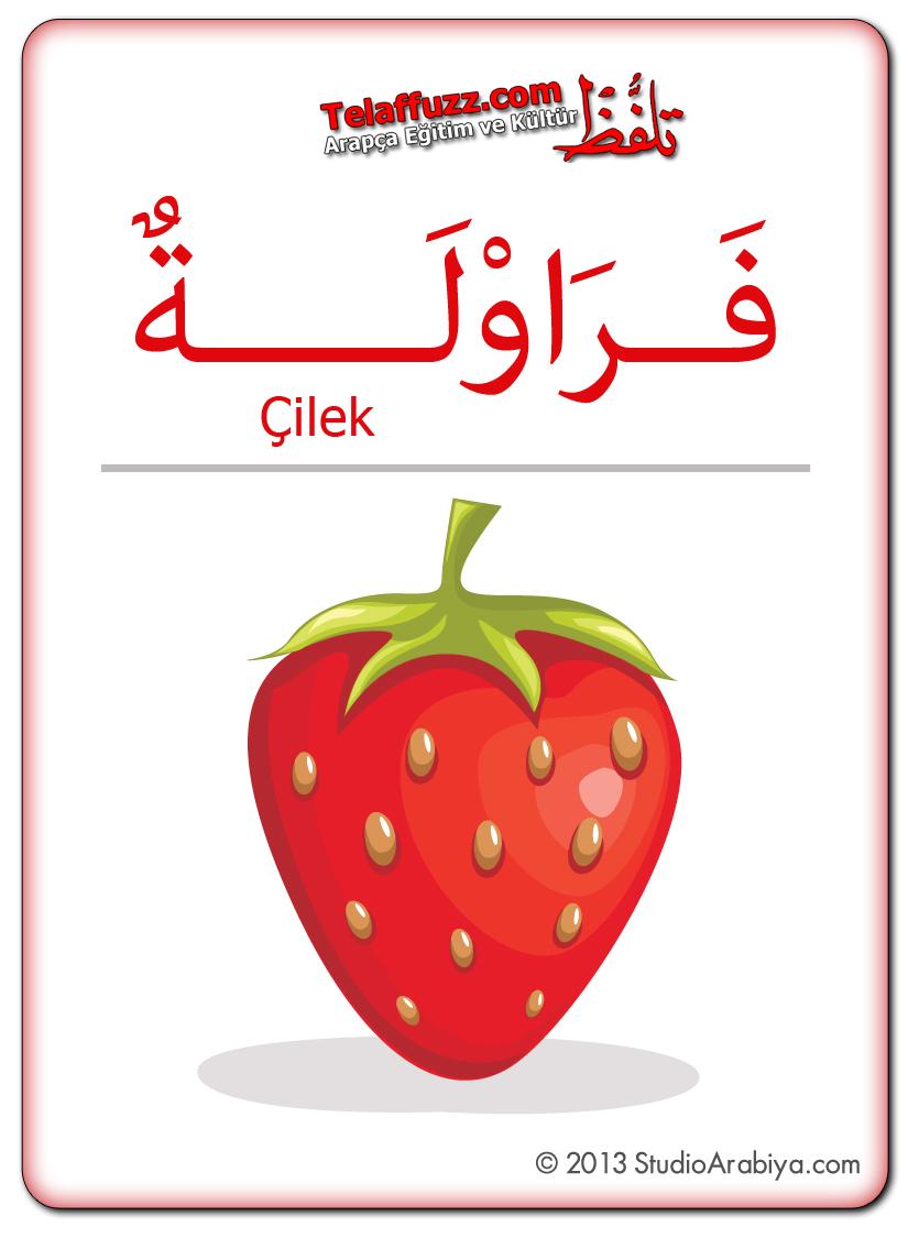 Flashcards-Fruits-Strawberry