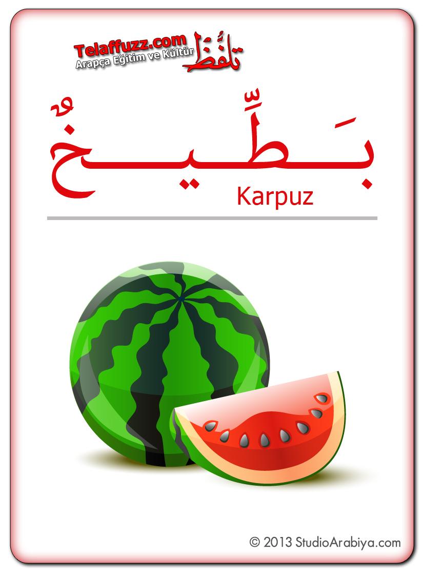 Flashcards-Fruits-Watermelon