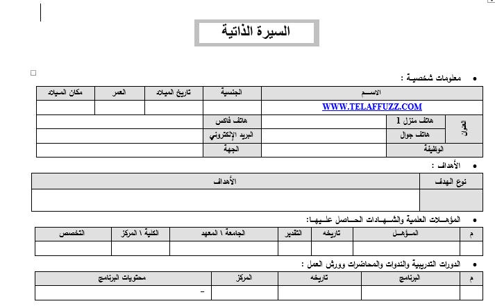 cv hazırlama formu pdf